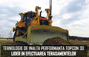 High-performance technology TOPCON 3D - Leader in Earthworks